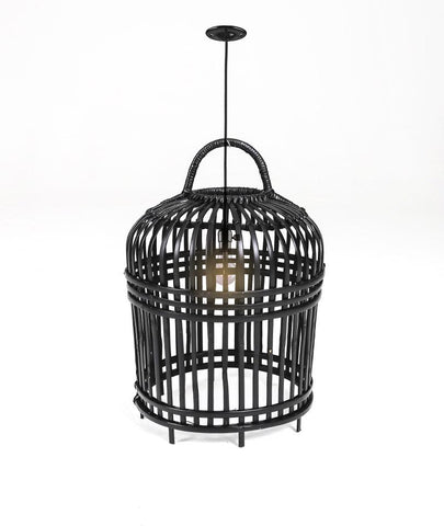 LAMPSHADE BAMBOO - SMALL - BLACK