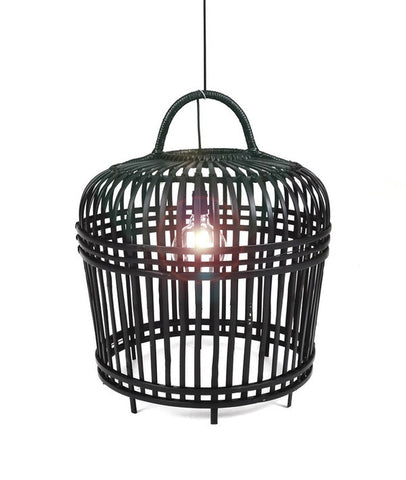 LAMPSHADE BAMBOO - MEDIUM - BLACK