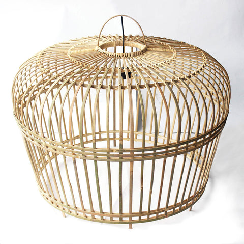 LARGE BAMBOO LIGHTSHADE - NATURAL