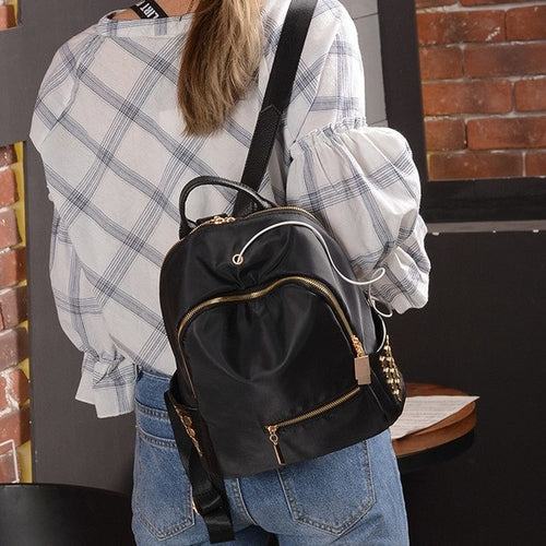Backpack Black Backpacks Women Girls School Bags