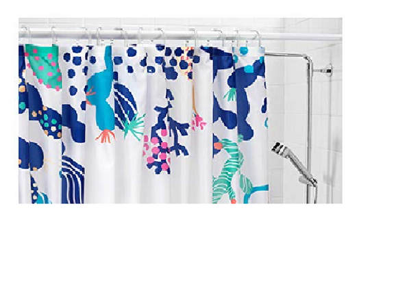 Lasjon Shower Curtain Waterproof/Water-Repellent with Rings