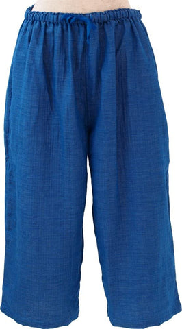 Marshmallow Gauze Chambray Gaucho Ladies Pants