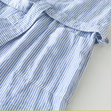 Marshmallow Gauze Robe in Stripe, Unisex