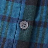 Marshmallow Gauze Tartan Check Collar Dress