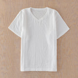 Marshmallow Gauze Mens V-neck T-shirt