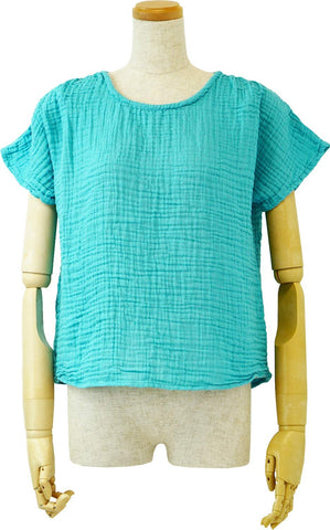 Crepe Gauze Gather Pullover Ladies