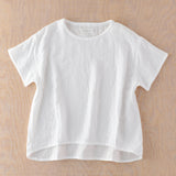 Marshmallow Gauze Lady Tuck T-shirt