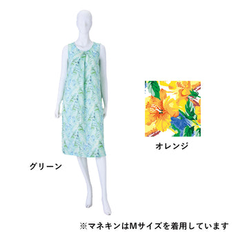 Crepe Gauze Print No Sleeve One Piece
