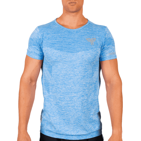 Azure Blue Seamless T-Shirt - Ventelite Physiotherapy Kenmore and Activewear