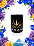 Iris & White Water Crystal Series Long Burning Organic Coconut Wax Candle Small 150gm