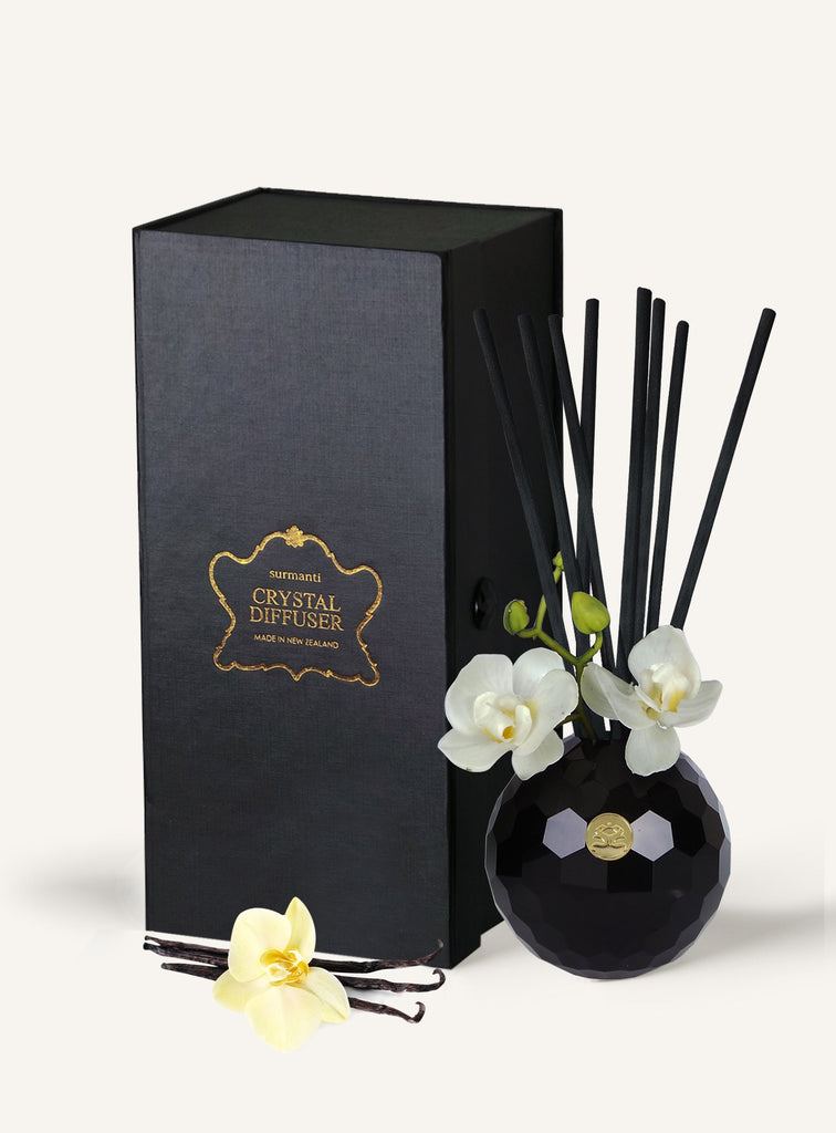 Vanilla Absolute Lead Crystal Diffuser set