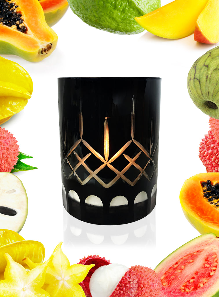 Starfruit Lychee & Guava Crystal Series Long Burning Organic Coconut Wax Candle 1275gm Made to Order