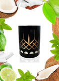 Lime & Coconut Crystal Series Long Burning Organic Coconut Wax Candle 150gm