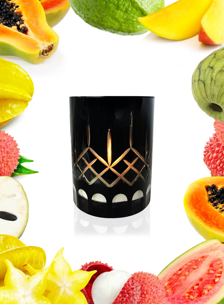 Starfruit Lychee & Guava Crystal Series Long Burning Organic Coconut Wax Candle Small 150gm