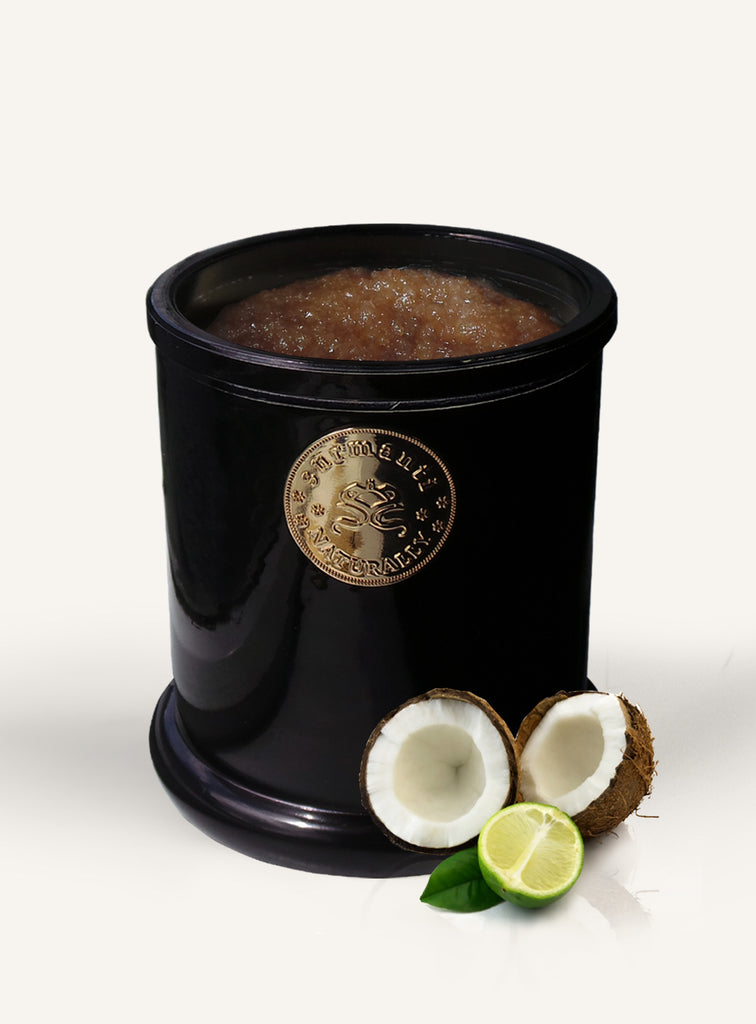 Lime & Coconut Cane Sugar Exfoliant - Surmanti - Made In New Zealand