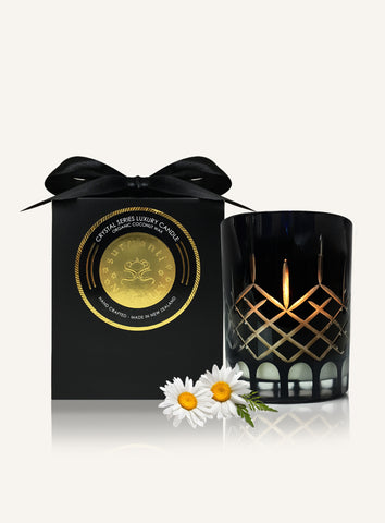 Lime & Coconut Crystal Series Long Burning Organic Coconut Wax Candle Small 150gm