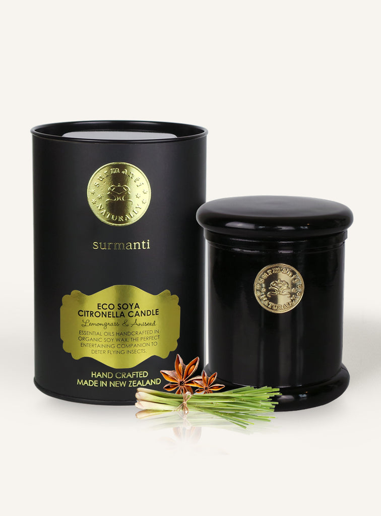 Lemongrass & Aniseed Citronella EcoSoya Candle - Surmanti - Made In New Zealand