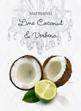 Lime Coconut & Verbena Reed Diffuser Oil & Luxury Black Reeds