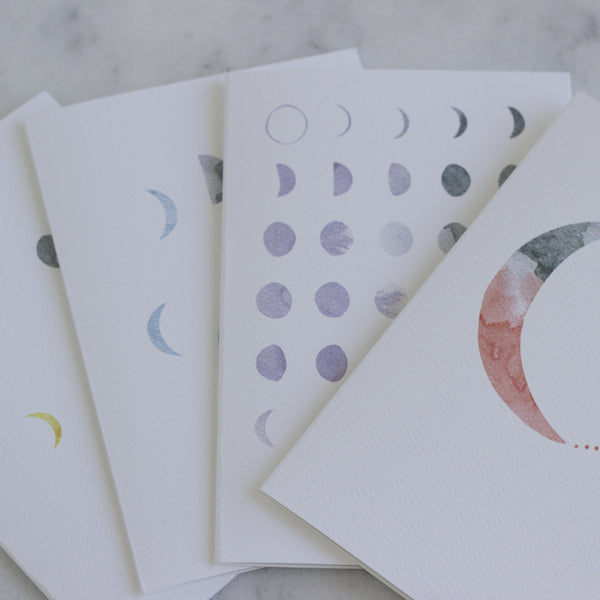 Moon Print Card Set