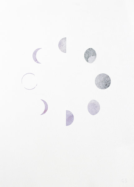 Phases of Moon Print