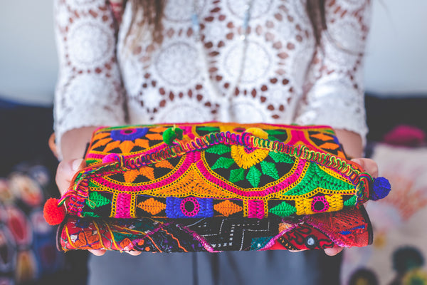Small Poms Gypsy Clutch