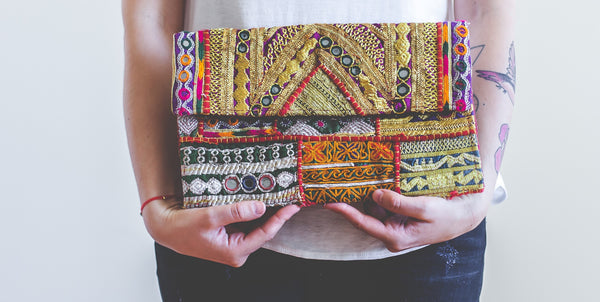 Classic Gypsy Clutch with Ribari Textiles