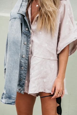 Linen Spot Playsuit