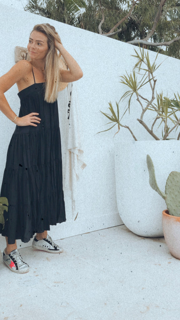 Summer Black Maxi Dress