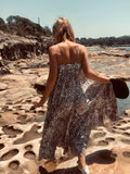 Summer Leopard Maxi Dress