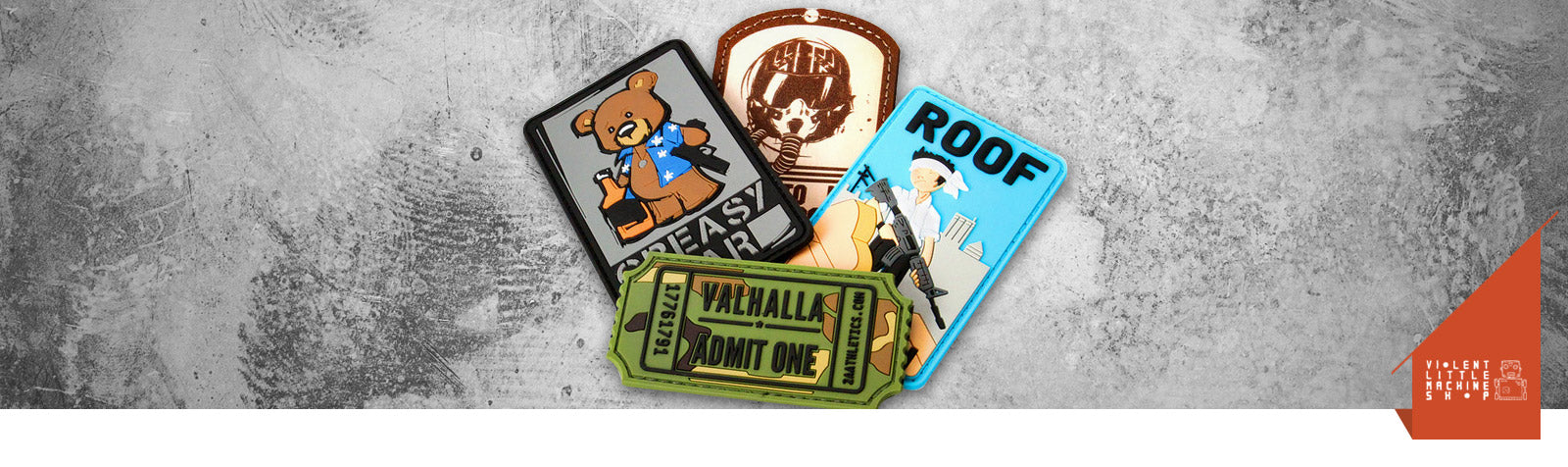 Violent Little Machine Shop Morale Patches USA from Warrior inc Tactical gear
