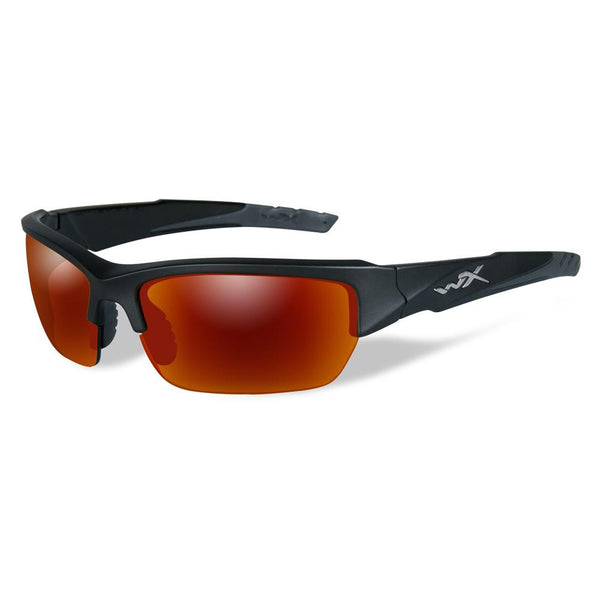 Wiley X Valor Matte Black Frame / Polarized Crimson Mirror Lens - WarriorInc Tactical Gear
