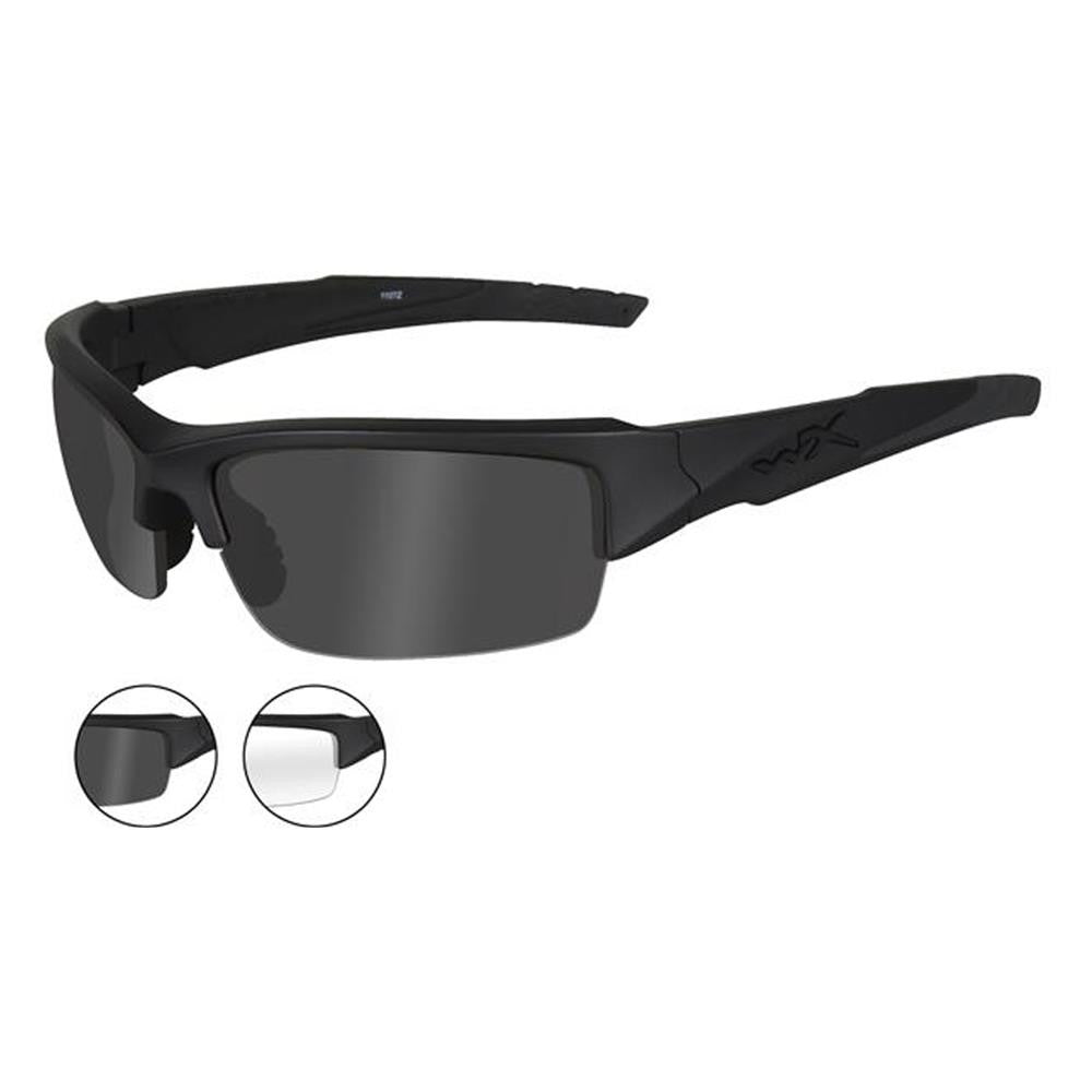 1c0400e155f Wiley X Valor Matte Black Frame   Smoke and Clear Lens - WarriorInc  Tactical Gear