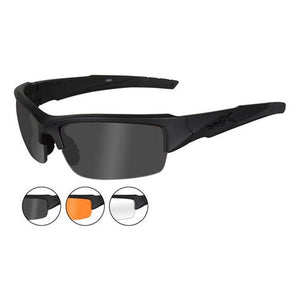 Wiley X Valor Matte Black Frame 3 Lens Kit - Smoke, Clear and Light Rust - WarriorInc Tactical Gear