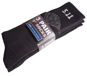 "5.11 Tactical 3 Pack of 9"" Socks - WarriorInc Tactical Gear"