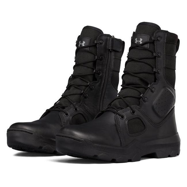 Under Armour Tactical FNP Zip Black Boot - WarriorInc Tactical Gear