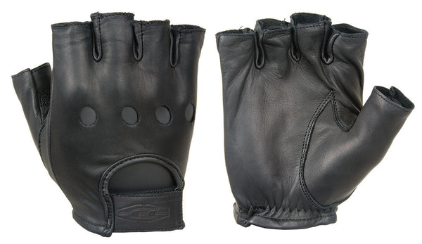 Damascus Leather Half Finger Driving Gloves - WarriorInc Tactical Gear