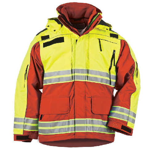 5.11 Tactical Responder High-Visibility Parka Range Red - WarriorInc Tactical Gear