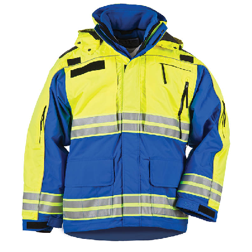 5.11 Tactical Responder High-Visibility Parka Royal Blue - WarriorInc Tactical Gear