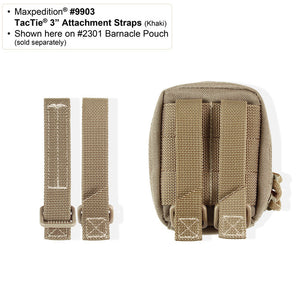 "Maxpedition 3"" TacTie Attachment Strap (Pack of 4) - WarriorInc Tactical Gear"