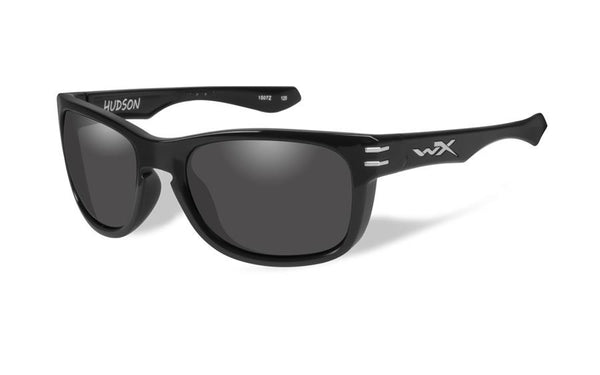 Wiley X Hudson Grey Lens / Gloss Black Frame - WarriorInc Tactical Gear