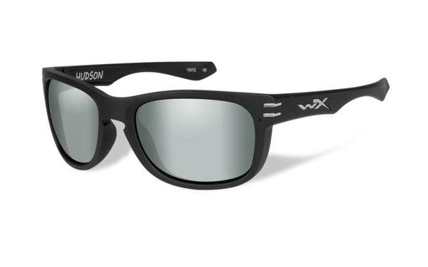Wiley X Hudson Polarized Platinum Flash Lens / Matte Black Frame - WarriorInc Tactical Gear