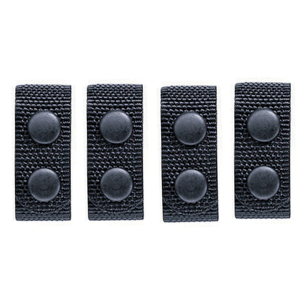 Bianchi AccuMold 7406 Belt Keeper - Pack of 4 - Plain w/ Black Snaps - WarriorInc Tactical Gear