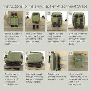 "Maxpedition 5"" TacTie Attachment Strap (Pack of 4) - WarriorInc Tactical Gear"