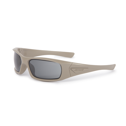 ESS 5B Sunglasses Tan Frame Smoke Gray Lenses - WarriorInc Tactical Gear