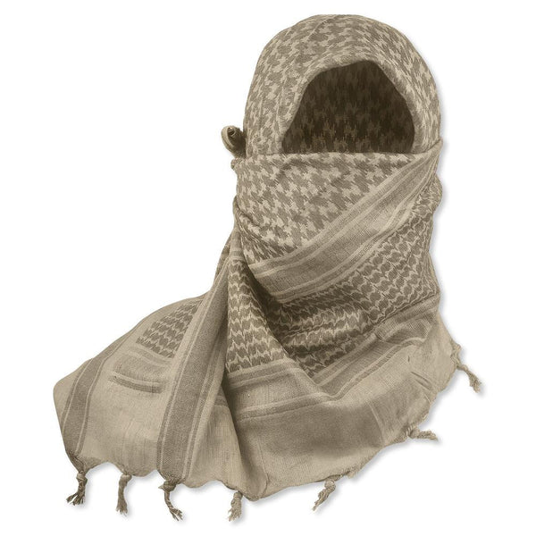 "5IVE Star Shemagh Desert Scarf 42"" x 42"" Sand/Tan 3743000 - WarriorInc Tactical Gear"