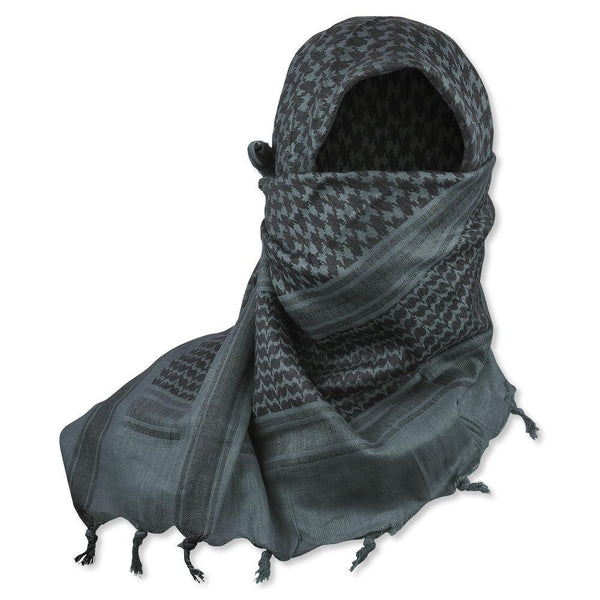 "5IVE Star Shemagh Desert Scarf Gray Black 42x42"" 3741000 - WarriorInc Tactical Gear"