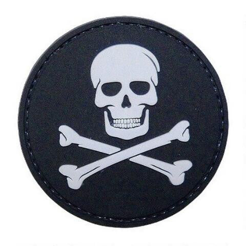 5ive Star Gear PVC Morale Patch Jolly Roger - WarriorInc Tactical Gear