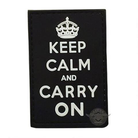 5ive Star Gear PVC Morale Patch Keep Calm Carry On - WarriorInc Tactical Gear
