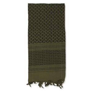 "5IVE Star Shemagh Desert Scarf 42"" x 42"" Olive Drab Green/Black 3742000 - WarriorInc Tactical Gear"