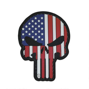 5ive Star Gear PVC Morale Patch Punisher Patriotic - WarriorInc Tactical Gear